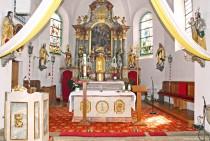 Innenansicht der Pfarrkirche Brennberg